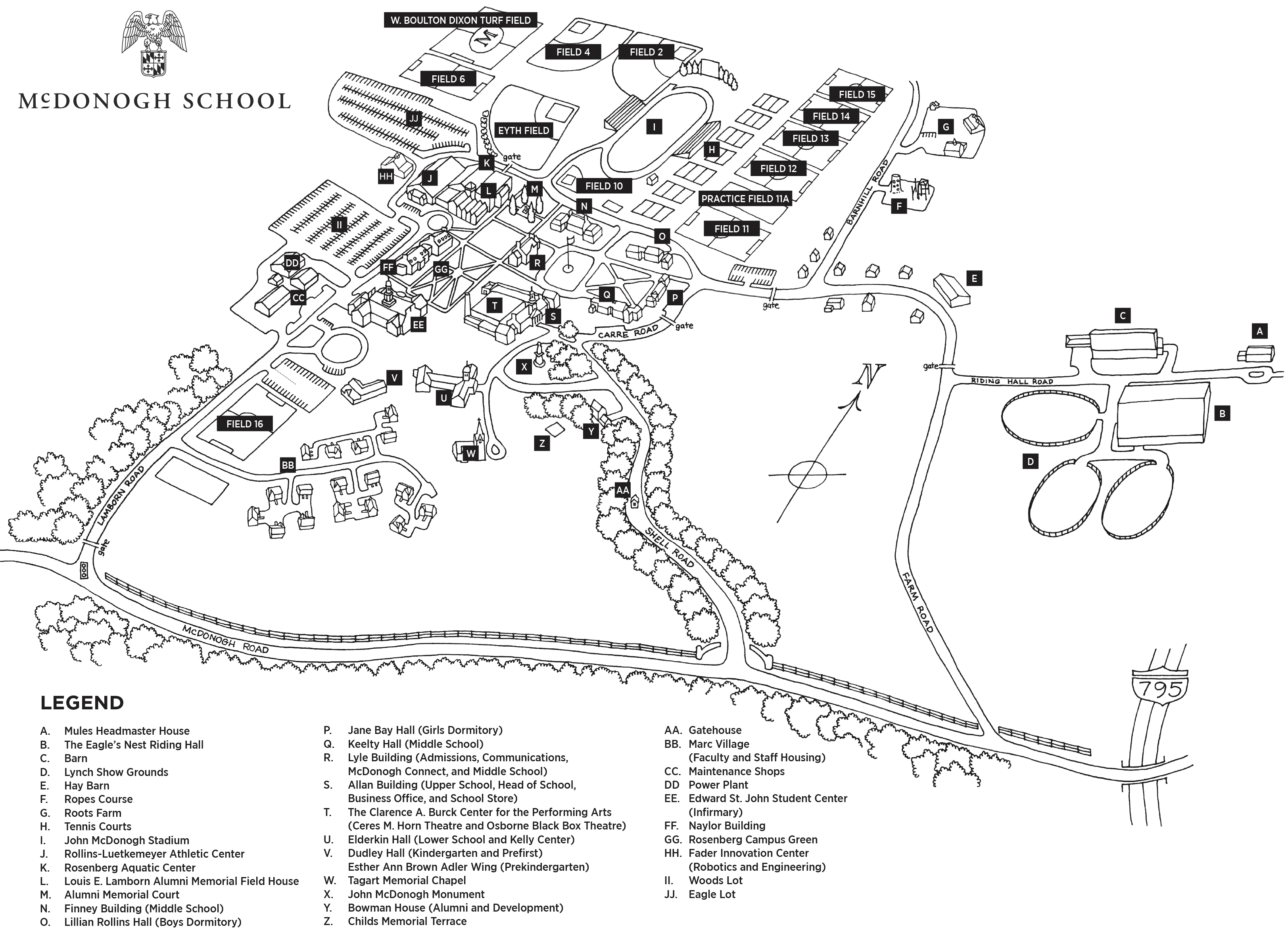 St Johns Campus Map.Campus Map