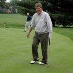 Jim Forestell '60 Practices His Short Game