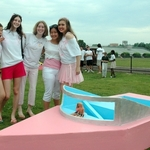 The Barbie boat and her crew