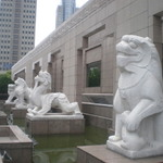 Mythical beasts outside Shanghai museum